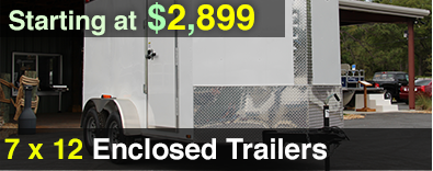 7x12 Diamond Cargo Enclosed Trailer