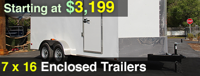 7x16 Diamond Cargo Enclosed Trailer