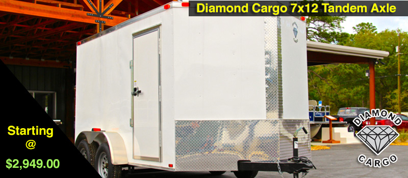 7x12 Diamond Cargo Enclosed Trailers