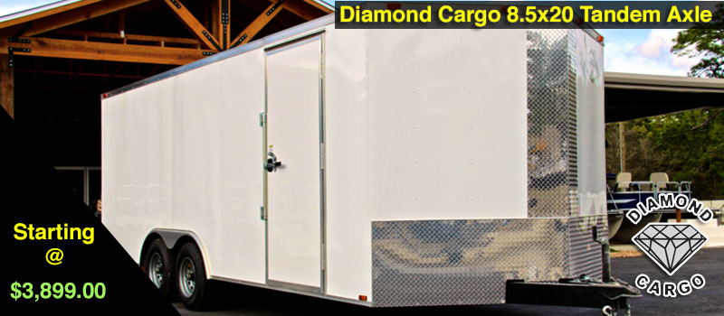8.5x20 Diamond Cargo Enclosed Trailers