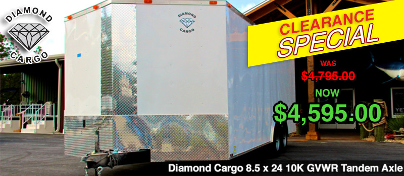 Diamond Cargo 8.5 x 24 10K GVWR Tandem Axle Enclosed Trailer