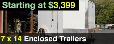 7x14 Diamond Cargo Enclosed Trailer